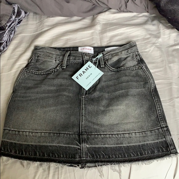 Frame Denim Dresses & Skirts - Frame Black Denim Skirt NWT